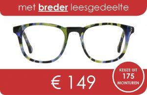 bril met breder leesgedeelte